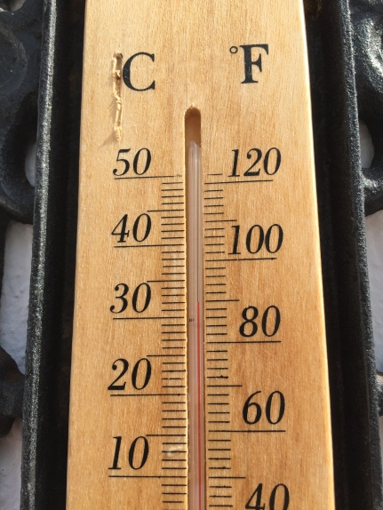 This was the temp!
